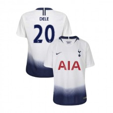 YOUTH - Tottenham Hotspur 2018/19 Home #20 Dele Alli White Authentic Jersey
