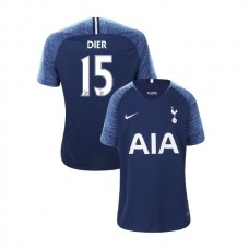 YOUTH - Tottenham Hotspur 2018/19 Away #15 Eric Dier Navy Authentic Jersey