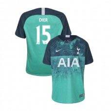 YOUTH - Tottenham Hotspur 2018/19 Third #15 Eric Dier Green Authentic Jersey