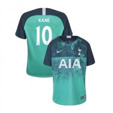 YOUTH - Tottenham Hotspur 2018/19 Third #10 Harry Kane Green Authentic Jersey