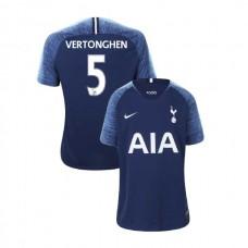 YOUTH - Tottenham Hotspur 2018/19 Away #5 Jan Vertonghen Navy Authentic Jersey