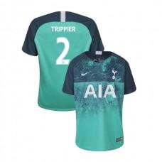 YOUTH - Tottenham Hotspur 2018/19 Third #2 Kieran Trippier Green Authentic Jersey