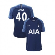 YOUTH - Tottenham Hotspur 2018/19 Away #40 Luke Amos Navy Authentic Jersey