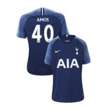 YOUTH - Tottenham Hotspur 2018/19 Away #40 Luke Amos Navy Authentic Jersey