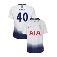 YOUTH - Tottenham Hotspur 2018/19 Home #40 Luke Amos White Authentic Jersey