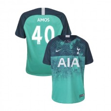 YOUTH - Tottenham Hotspur 2018/19 Third #40 Luke Amos Green Authentic Jersey