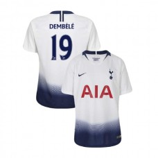 YOUTH - Tottenham Hotspur 2018/19 Home #19 Mousa Dembele White Authentic Jersey