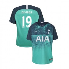 YOUTH - Tottenham Hotspur 2018/19 Third #19 Mousa Dembele Green Authentic Jersey