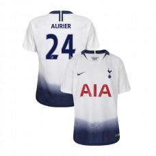 YOUTH - Tottenham Hotspur 2018/19 Home #24 Serge Aurier White Authentic Jersey
