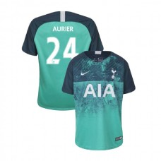 YOUTH - Tottenham Hotspur 2018/19 Third #24 Serge Aurier Green Authentic Jersey