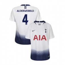 YOUTH - Tottenham Hotspur 2018/19 Home #4 Toby Alderweireld White Authentic Jersey