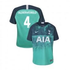 YOUTH - Tottenham Hotspur 2018/19 Third #4 Toby Alderweireld Green Authentic Jersey
