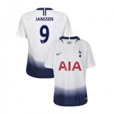 YOUTH - Tottenham Hotspur 2018/19 Home #9 Vincent Janssen White Authentic Jersey